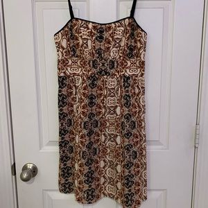 Black/brown pattered casual sundress
